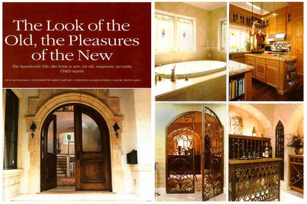 Monarch designs studio for California home and design magazine
